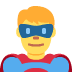 🦸♂️ man superhero Emoji on Twitter Platform