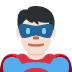 🦸🏻♂️ man superhero: light skin tone Emoji on Twitter Platform