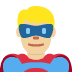 🦸🏼‍♂️ man superhero: medium-light skin tone Emoji on Twitter Platform