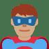 🦸🏽♂️ man superhero: medium skin tone Emoji on Twitter Platform