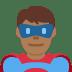 🦸🏾♂️ man superhero: medium-dark skin tone Emoji on Twitter Platform