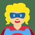 🦸🏼♀️ woman superhero: medium-light skin tone Emoji on Twitter Platform