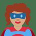 🦸🏽♀️ woman superhero: medium skin tone Emoji on Twitter Platform