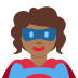 🦸🏾‍♀️ woman superhero: medium-dark skin tone Emoji on Twitter Platform