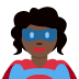 🦸🏿♀️ woman superhero: dark skin tone Emoji on Twitter Platform