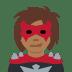 🦹🏾 supervillain: medium-dark skin tone Emoji on Twitter Platform