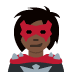 🦹🏿‍♀️ woman supervillain: dark skin tone Emoji on Twitter Platform