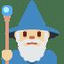 🧙🏼♂️ man mage: medium-light skin tone Emoji on Twitter Platform