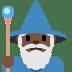 🧙🏿♂️ man mage: dark skin tone Emoji on Twitter Platform