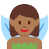 🧚🏾 fairy: medium-dark skin tone Emoji on Twitter Platform