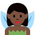 🧚🏿 fairy: dark skin tone Emoji on Twitter Platform
