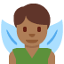 🧚🏾♂️ man fairy: medium-dark skin tone Emoji on Twitter Platform