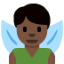 🧚🏿‍♂️ man fairy: dark skin tone Emoji on Twitter Platform