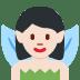 🧚🏻♀️ woman fairy: light skin tone Emoji on Twitter Platform