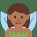 🧚🏾♀️ woman fairy: medium-dark skin tone Emoji on Twitter Platform