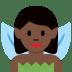 🧚🏿♀️ woman fairy: dark skin tone Emoji on Twitter Platform
