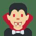 🧛🏼♂️ man vampire: medium-light skin tone Emoji on Twitter Platform