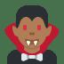 🧛🏾♂️ man vampire: medium-dark skin tone Emoji on Twitter Platform