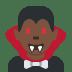 🧛🏿♂️ man vampire: dark skin tone Emoji on Twitter Platform