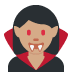 🧛🏽‍♀️ woman vampire: medium skin tone Emoji on Twitter Platform