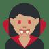 🧛🏽♀️ woman vampire: medium skin tone Emoji on Twitter Platform