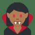 🧛🏾♀️ woman vampire: medium-dark skin tone Emoji on Twitter Platform