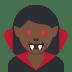 🧛🏿♀️ woman vampire: dark skin tone Emoji on Twitter Platform