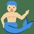 🧜🏼♂️ merman: medium-light skin tone Emoji on Twitter Platform
