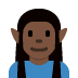 🧝🏿 elf: dark skin tone Emoji on Twitter Platform