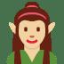🧝🏼♀️ woman elf: medium-light skin tone Emoji on Twitter Platform