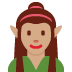 🧝🏽‍♀️ woman elf: medium skin tone Emoji on Twitter Platform