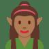 🧝🏾♀️ woman elf: medium-dark skin tone Emoji on Twitter Platform