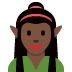 🧝🏿♀️ Dark Skin Tone Female Elf Emoji on Twitter Platform