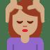 💆🏽 person getting massage: medium skin tone Emoji on Twitter Platform