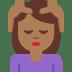 💆🏾 person getting massage: medium-dark skin tone Emoji on Twitter Platform