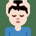 💆🏻♂️ man getting massage: light skin tone Emoji on Twitter Platform