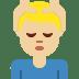 💆🏼♂️ man getting massage: medium-light skin tone Emoji on Twitter Platform