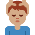 💆🏽♂️ man getting massage: medium skin tone Emoji on Twitter Platform