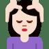 💆🏻♀️ woman getting massage: light skin tone Emoji on Twitter Platform