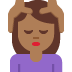 💆🏾♀️ woman getting massage: medium-dark skin tone Emoji on Twitter Platform