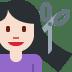 💇🏻 person getting haircut: light skin tone Emoji on Twitter Platform