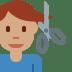 💇🏽♂️ man getting haircut: medium skin tone Emoji on Twitter Platform
