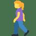 🚶♀️ woman walking Emoji on Twitter Platform