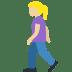 🚶🏼♀️ woman walking: medium-light skin tone Emoji on Twitter Platform