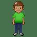 🧍🏽 person standing: medium skin tone Emoji on Twitter Platform