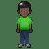 🧍🏿 person standing: dark skin tone Emoji on Twitter Platform