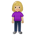 🧍🏼♀️ woman standing: medium-light skin tone Emoji on Twitter Platform