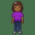🧍🏾♀️ woman standing: medium-dark skin tone Emoji on Twitter Platform