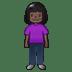 🧍🏿♀️ woman standing: dark skin tone Emoji on Twitter Platform
