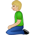 🧎🏼 person kneeling: medium-light skin tone Emoji on Twitter Platform